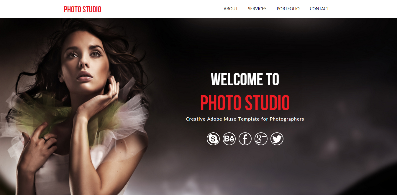 Photo studio photography muse template muse templates photo studio photography muse template pronofoot35fo Images