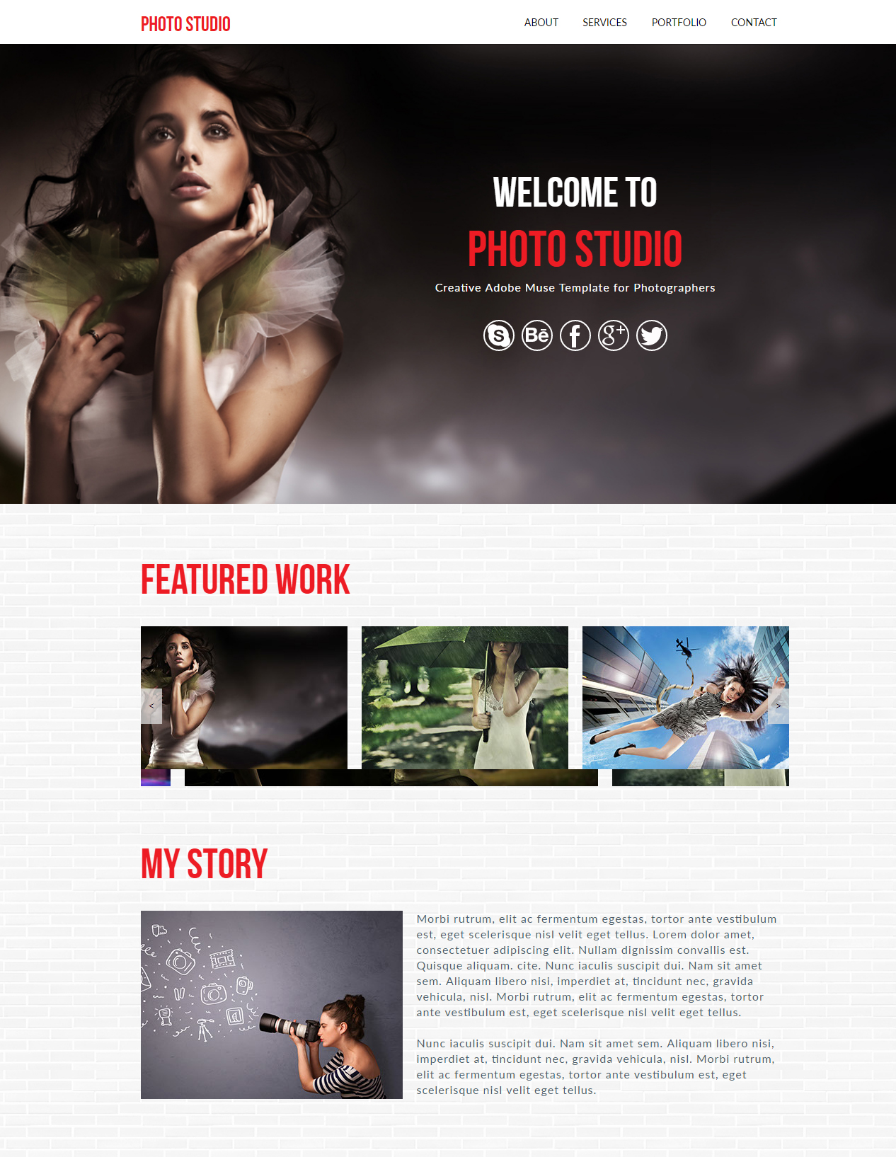115 free muse templates create website without coding photo studio muse template pronofoot35fo Images