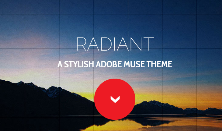 Radiant – One Page Muse Template |